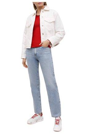Женские кожаные кеды belle PREMIATA красного цвета, арт. BELLE/VAR5145 | Фото 2