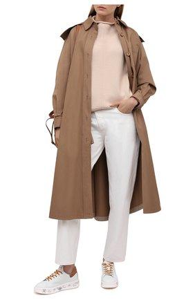 Женские кожаные кеды belle PREMIATA белого цвета, арт. BELLE/VAR5146 | Фото 2