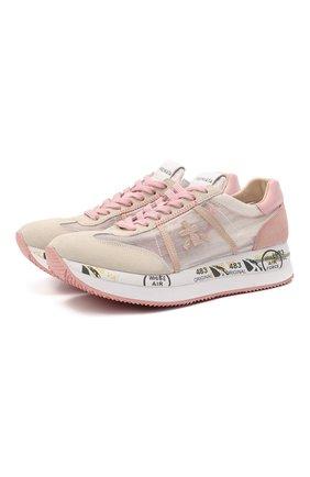 Женские комбинированные кроссовки conny PREMIATA розового цвета, арт. C0NNY/VAR5208 | Фото 1