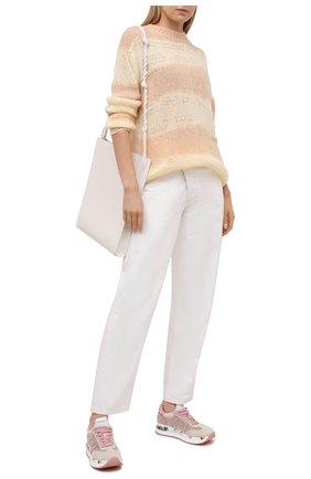Женские комбинированные кроссовки conny PREMIATA розового цвета, арт. C0NNY/VAR5208 | Фото 2