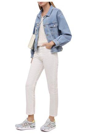 Женские комбинированные кроссовки conny PREMIATA светло-голубого цвета, арт. C0NNY/VAR5209   Фото 2