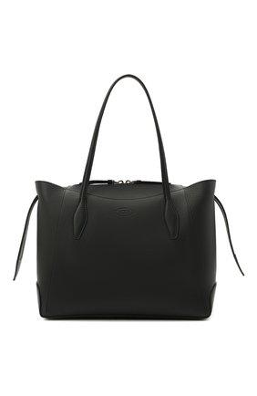 Женский сумка-шопер aos medium TOD'S черного цвета, арт. XBWA0SA0300RIA   Фото 1