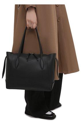 Женский сумка-шопер aos medium TOD'S черного цвета, арт. XBWA0SA0300RIA   Фото 2