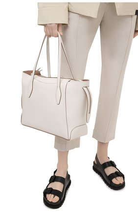 Женский сумка-шопер aos medium TOD'S белого цвета, арт. XBWA0SA0300RIA   Фото 2