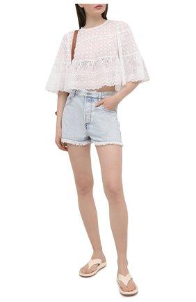 Женская хлопковая блузка ISABEL MARANT ETOILE белого цвета, арт. HT2041-21P032E/TEVIKA | Фото 2