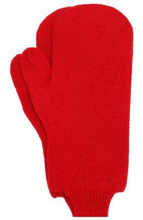 Женские шерстяные варежки BOTTEGA VENETA красного цвета, арт. 653594/3V00M | Фото 2