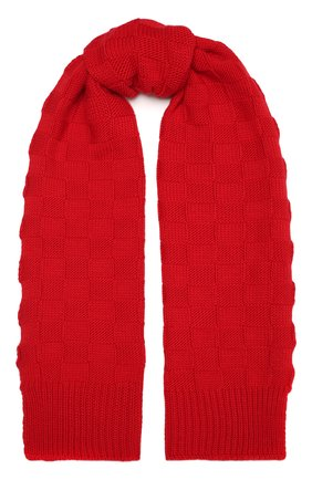 Женский шерстяной шарф BOTTEGA VENETA красного цвета, арт. 653593/3V206   Фото 1