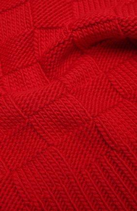 Женский шерстяной шарф BOTTEGA VENETA красного цвета, арт. 653593/3V206   Фото 2