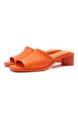 Женские кожаные мюли ACNE STUDIOS оранжевого цвета, арт. AD0349 | Фото 1