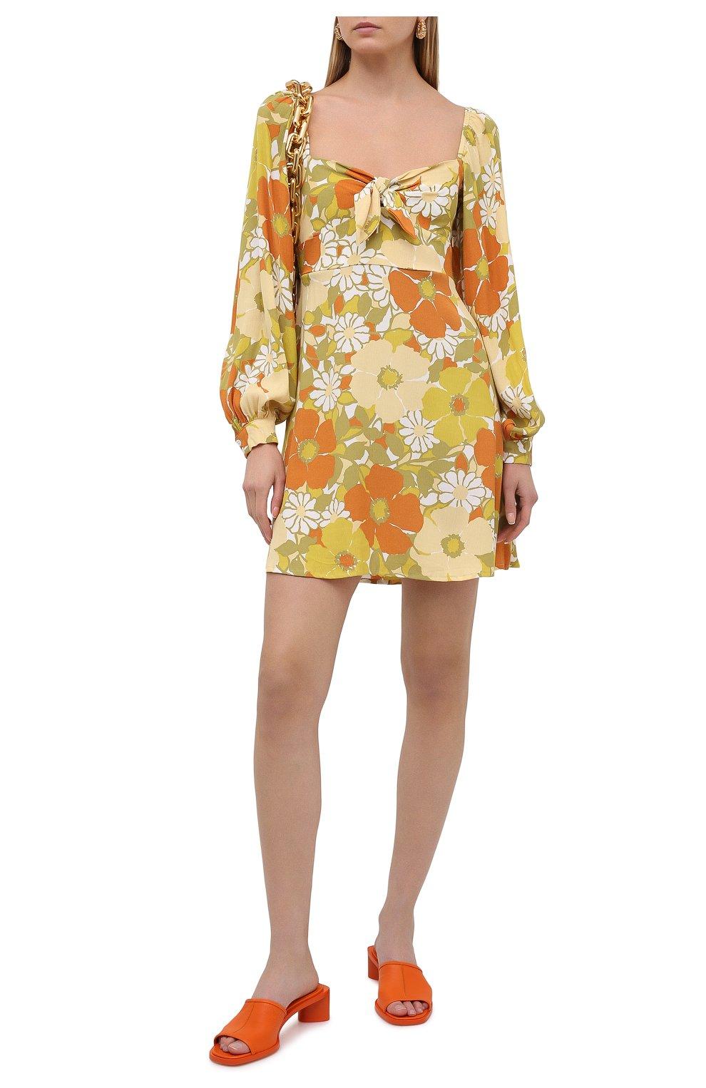 Женские кожаные мюли ACNE STUDIOS оранжевого цвета, арт. AD0349 | Фото 2