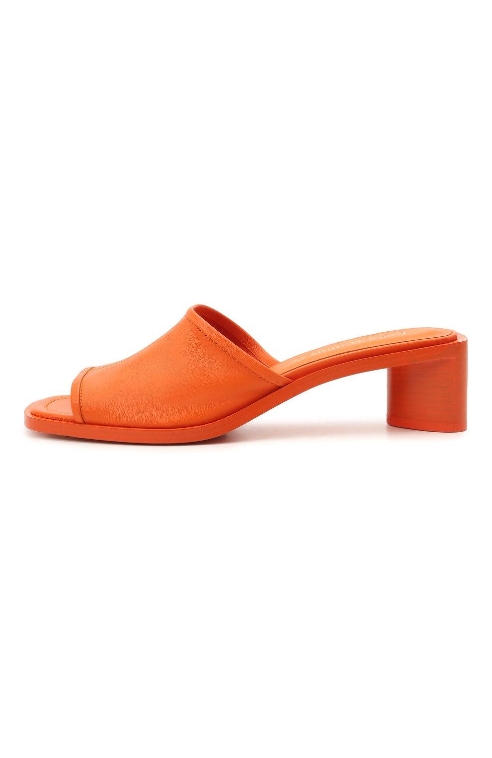 Женские кожаные мюли ACNE STUDIOS оранжевого цвета, арт. AD0349 | Фото 3