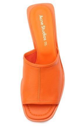 Женские кожаные мюли ACNE STUDIOS оранжевого цвета, арт. AD0349 | Фото 5