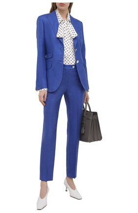 Женский жакет из шерсти и шелка KITON синего цвета, арт. D20513K09T24 | Фото 2