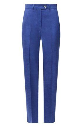 Женские брюки из шерсти и шелка KITON синего цвета, арт. D49109K09T24 | Фото 1
