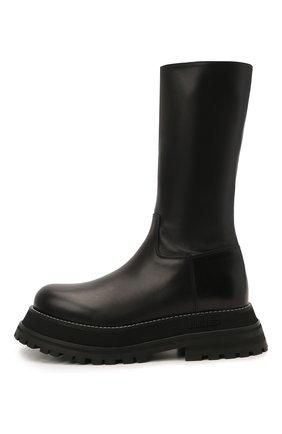 Женские кожаные сапоги BURBERRY черного цвета, арт. 8037619 | Фото 4
