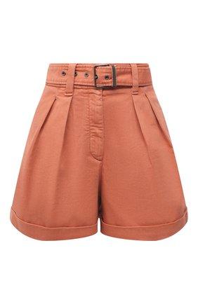 Женские джинсовые шорты BRUNELLO CUCINELLI оранжевого цвета, арт. MA080P5646 | Фото 1