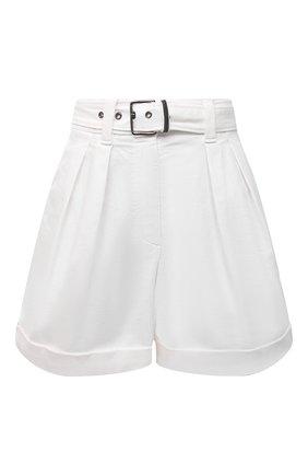 Женские джинсовые шорты BRUNELLO CUCINELLI белого цвета, арт. MA080P5646 | Фото 1