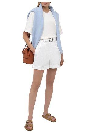 Женские джинсовые шорты BRUNELLO CUCINELLI белого цвета, арт. MA080P5646 | Фото 2