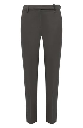 Женские хлопковые брюки BRUNELLO CUCINELLI хаки цвета, арт. M0F70P6572 | Фото 1