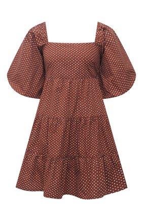 Женское хлопковое платье FAITHFULL THE BRAND коричневого цвета, арт. FF1718-BDP | Фото 1