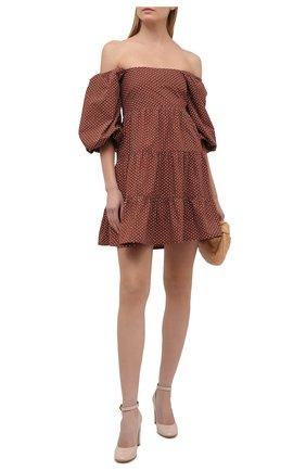 Женское хлопковое платье FAITHFULL THE BRAND коричневого цвета, арт. FF1718-BDP | Фото 2