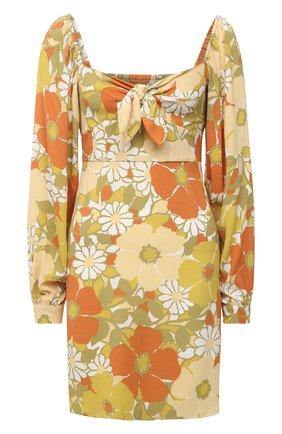 Женское платье из вискозы FAITHFULL THE BRAND желтого цвета, арт. FF1709-IFB | Фото 1
