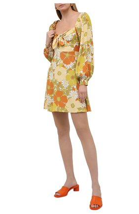 Женское платье из вискозы FAITHFULL THE BRAND желтого цвета, арт. FF1709-IFB | Фото 2