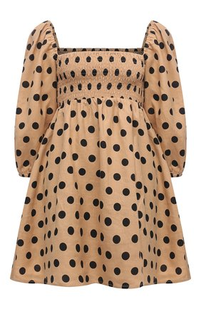 Женское льняное платье FAITHFULL THE BRAND бежевого цвета, арт. FF1673-EDB | Фото 1