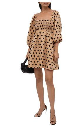 Женское льняное платье FAITHFULL THE BRAND бежевого цвета, арт. FF1673-EDB | Фото 2