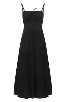 Женское хлопковое платье FAITHFULL THE BRAND черного цвета, арт. FF1672-BLK | Фото 1