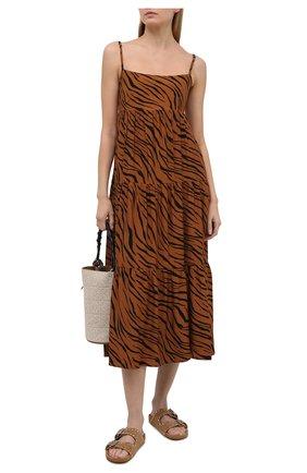 Женское платье из вискозы FAITHFULL THE BRAND коричневого цвета, арт. FF1659-KAP | Фото 2