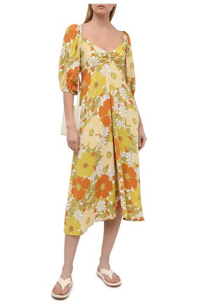 Женское платье из вискозы FAITHFULL THE BRAND желтого цвета, арт. FF1646-IFB | Фото 2