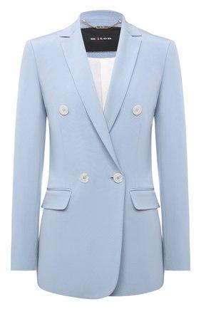 Женский шелковый жакет KITON голубого цвета, арт. D51515K09T63 | Фото 1