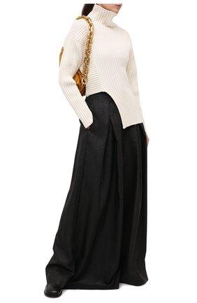 Женские брюки BRUNELLO CUCINELLI черного цвета, арт. MH135P7509 | Фото 2