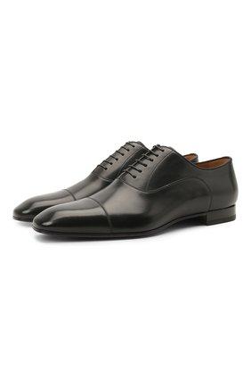 Мужские кожаные оксфорды greggo flat CHRISTIAN LOUBOUTIN черного цвета, арт. 1150376/GREGG0 FLAT | Фото 1