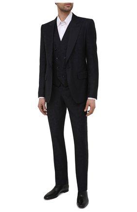 Мужские кожаные оксфорды greggo flat CHRISTIAN LOUBOUTIN черного цвета, арт. 1150376/GREGG0 FLAT | Фото 2
