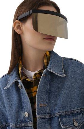 Женские солнцезащитные очки MYKITA черного цвета, арт. DAISUKE/301/G0LD | Фото 2 (Тип очков: С/з)