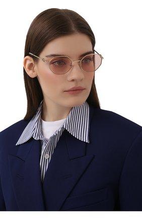 Женские солнцезащитные очки VALENTINO розового цвета, арт. 2040-3003/5 | Фото 2