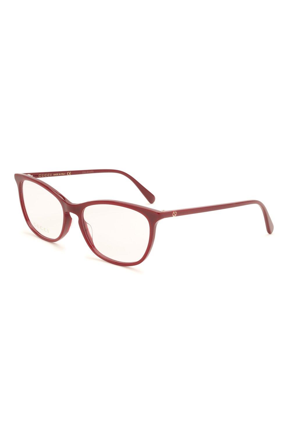 Женские оправа GUCCI бордового цвета, арт. GG0549 010 | Фото 1