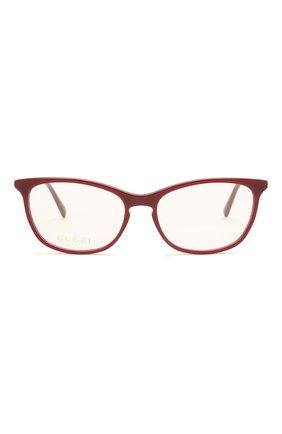 Женские оправа GUCCI бордового цвета, арт. GG0549 010 | Фото 3