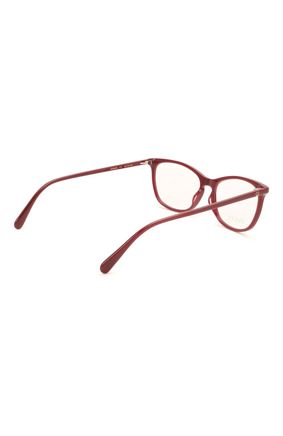 Женские оправа GUCCI бордового цвета, арт. GG0549 010 | Фото 4