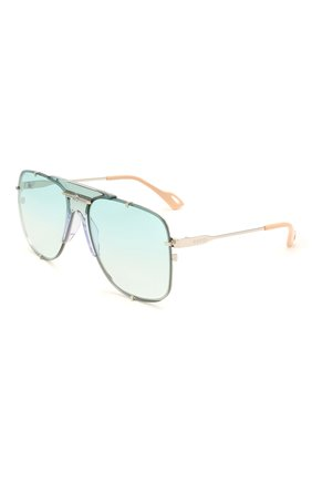 Женские солнцезащитные очки GUCCI бирюзового цвета, арт. GG0739S 003 | Фото 1