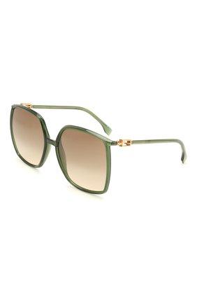 Женские солнцезащитные очки FENDI зеленого цвета, арт. 0431/G 1ED   Фото 1
