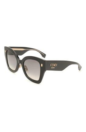 Женские солнцезащитные очки FENDI черного цвета, арт. 0434/G 807   Фото 1
