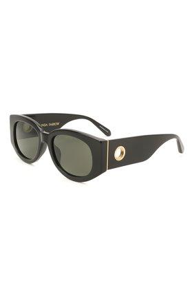 Женские солнцезащитные очки LINDA FARROW черного цвета, арт. LFL1059C1 SUN   Фото 1