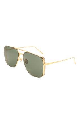 Женские солнцезащитные очки LINDA FARROW темно-зеленого цвета, арт. LFL1122C1 SUN   Фото 1
