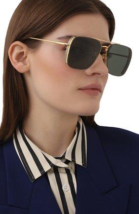 Женские солнцезащитные очки LINDA FARROW темно-зеленого цвета, арт. LFL1122C1 SUN   Фото 2