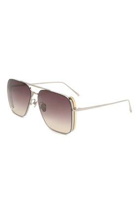 Женские солнцезащитные очки LINDA FARROW фиолетового цвета, арт. LFL1122C2 SUN   Фото 1