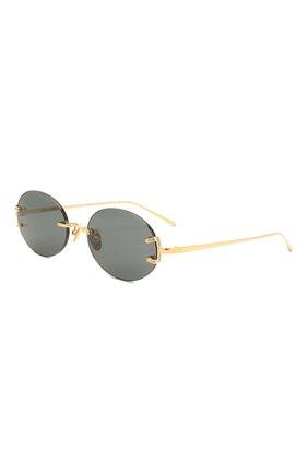 Женские солнцезащитные очки LINDA FARROW черного цвета, арт. LFL1130C1 SUN   Фото 1