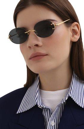Женские солнцезащитные очки LINDA FARROW черного цвета, арт. LFL1130C1 SUN   Фото 2